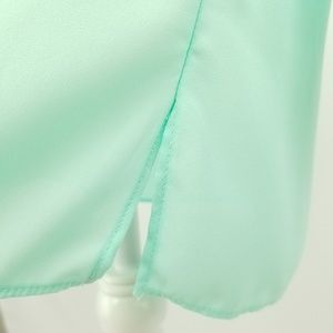 d2108df335e Charming Charlie Tops - Charming Charlie Mint Green V-neck Tunic Top Small